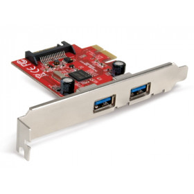 Hamlet Scheda Usb 3.0 PCI Express con 2 porte