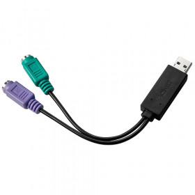 Lindy 42650 cavo di interfaccia e adattatore USB 2x PS/2 Nero