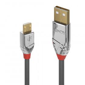 Lindy 36652 cavo USB 2 m 2.0 USB A Micro-USB B Grigio