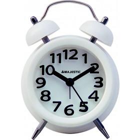 New Majestic CL-255 Quartz alarm clock Bianco