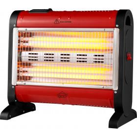 DCG Eltronic SA9424 stufetta elettrica Stufetta al quarzo Interno Nero, Rosso 1600 W