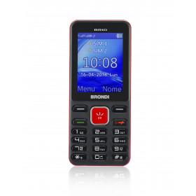 """Brondi brio 6,1 cm (2.4"""") 69 g Nero, Rosso Telefono di livello base"""