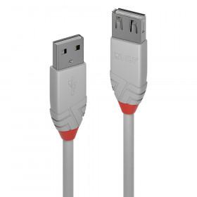 Lindy Anthra Line cavo USB 0,5 m 2.0 USB A Grigio