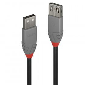 Lindy 36702 cavo USB 1 m USB A Nero, Grigio