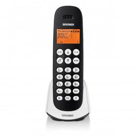 Brondi Adara Telefono DECT Nero, Bianco Identificatore di chiamata