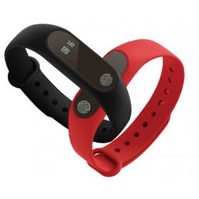 """GOCLEVER SMART BAND MAXFIT BASIC Wristband activity tracker Nero, Rosso IP67 OLED 1,07 cm (0.42"""") Senza fili"""