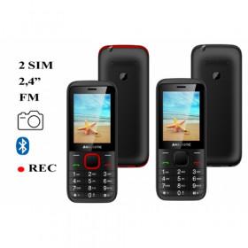 """New Majestic Lucky 56 6,1 cm (2.4"""") 75 g Nero, Rosso Telefono di livello base"""