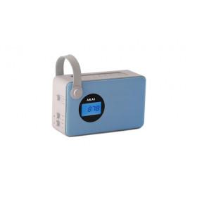 Akai AKBT60AZ radio Portatile Analogico e digitale Blu, Bianco