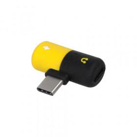 Area ADCTYCAUXYK cavo di interfaccia e adattatore USB Type C USB Type C/3.5 mm Nero, Giallo