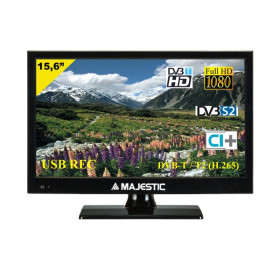 "New Majestic TVD-215 S2 LED MP10 televisore 39,6 cm (15.6"") Full HD Nero"