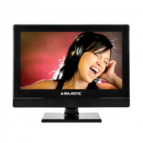 "New Majestic DVX-2154D S2 LED MP10 TV 39,6 cm (15.6"") Full HD Nero"