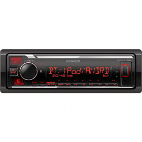 Kenwood Electronics KMM-BT305 Ricevitore multimediale per auto Nero Bluetooth