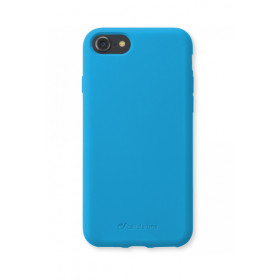 Cellularline Sensation - iPhone 8/7 Custodia in silicone soft touch Azzurro