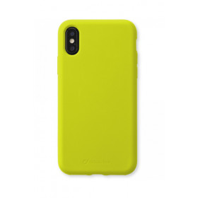 Cellularline Sensation - iPhone XS/X Custodia in silicone soft touch Lime