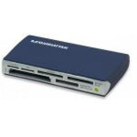 IC Intracom MANHATTAN Multi-Card Reader/Writer USB 2.0 Blu lettore di schede