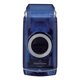 Braun MobileShave M-60b rasoio elettrico Blu, Trasparente