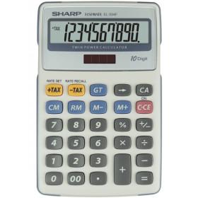 Sharp EL-334F calcolatrice Scrivania Calcolatrice finanziaria Grigio