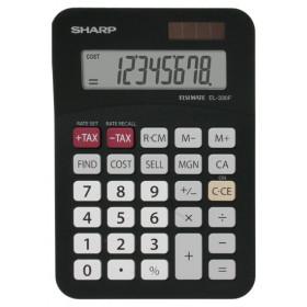 Sharp EL-330FBBK calcolatrice Tasca Calcolatrice di base Nero