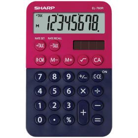 Sharp EL-760R calcolatrice Scrivania Calcolatrice finanziaria Blu, Rosso