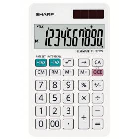 Sharp EL-377W calcolatrice Scrivania Calcolatrice finanziaria Bianco
