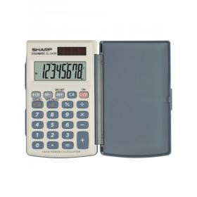Sharp EL-243E calcolatrice Tasca Calcolatrice di base Grigio, Bianco