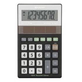 Sharp EL-R277BBK calcolatrice Scrivania Nero