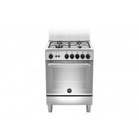 Bertazzoni La Germania Americana AMN664GXV cucina Piano cottura Acciaio inossidabile Gas A+