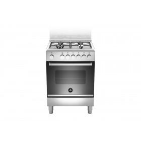 Bertazzoni La Germania Futura FTR664EXV cucina Piano cottura Nero, Acciaio inossidabile Gas A