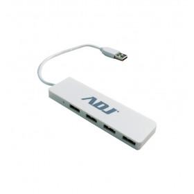 Adj Tetra Hub 2.0 USB 2.0 480 Mbit/s Bianco