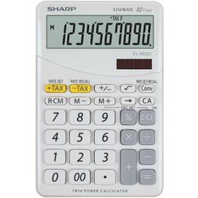 Sharp EL-M332 calcolatrice Scrivania Calcolatrice finanziaria Bianco