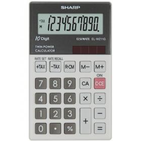 Sharp EL-W211G calcolatrice Tasca Calcolatrice finanziaria Grigio