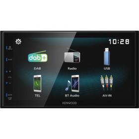 Kenwood DMX125DAB Ricevitore multimediale per auto Nero 84 W Bluetooth