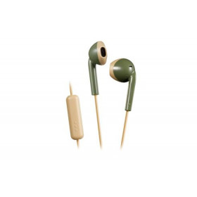 JVC HA-F19M-GC Cuffia Auricolare Crema, Verde
