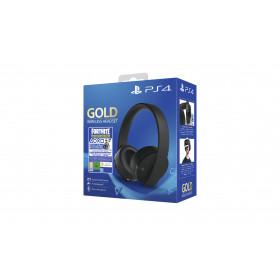 Sony Gold Wireless Headset + Fortnite VCH (2019) auricolare Padiglione auricolare Stereofonico Nero