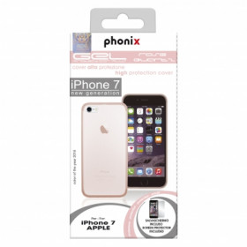 Phonix IP7GPQ Gel Protection Plus Schutzhülle mit Displayschutzfolie fur Apple iPhone 7 rosenquarz
