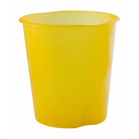 Fellowes E020TG cestino per rifiuti Rotondo Giallo Polipropilene (PP)