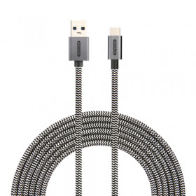 Sitecom CA-004 cavo USB 2 m 3.0 (3.1 Gen 1) USB C USB A Nero, Bianco
