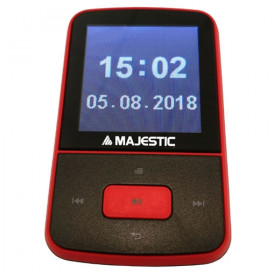 "New Majestic Lettore Multimediale Lett.Mp3 BT-8484R Rosso 8Gb BT 1,5"" Rec"