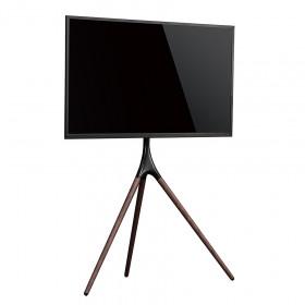 """Munari KE088NS base da pavimento per tv a schermo piatto 139,7 cm (55"""") Supporto fisso da pavimento a pannello piatto Nero, Legno"""