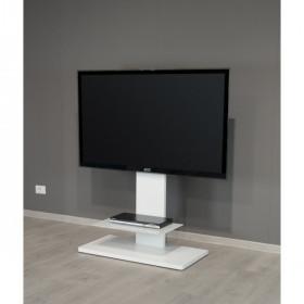 """Munari KT090BIO base da pavimento per tv a schermo piatto 139,7 cm (55"""") Banco a rotelle per monitor portatili a schermo piatto Nero"""