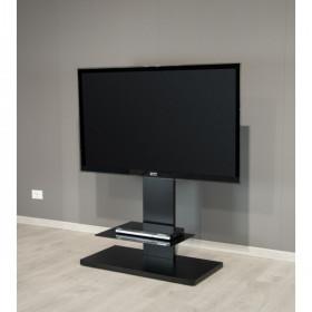 """Munari KT090NEO base da pavimento per tv a schermo piatto 139,7 cm (55"""") Banco a rotelle per monitor portatili a schermo piatto Nero"""