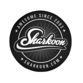 Sharkoon Floor Mat tovaglietta Rotondo Nero, Bianco 1 pezzo(i)