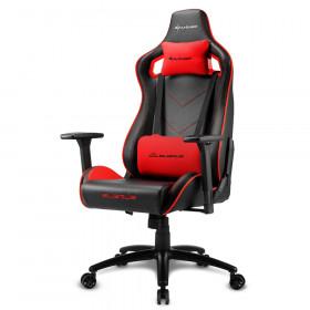 Sharkoon Elbrus 2 Sedia per gaming universale Seduta imbottita Nero, Rosso