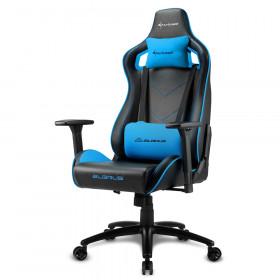 Sharkoon Elbrus 2 Sedia per gaming universale Seduta imbottita Nero, Blu