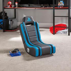 X Rocker Geist 2.0 Sedia da gioco per console Seduta imbottita Nero, Blu