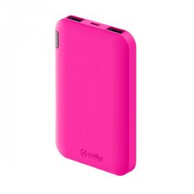 Celly PBE5000 batteria portatile Ioni di Litio 5000 mAh Carica wireless Rosa