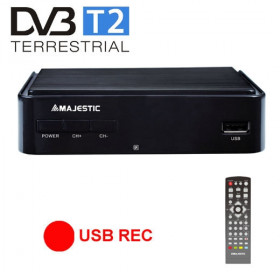 New Majestic DEC-664 HD USB REC Terrestre Nero