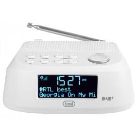 Trevi RC 80D4 DAB radio Orologio Digitale Bianco