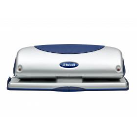 Rexel P425 Precision Perforatore 4 Fori Precision 425 Argento/Blu