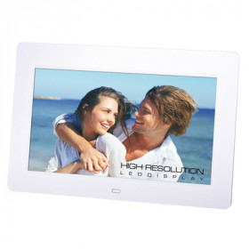 TREVI PORTAFOTO DPL-2220 10' LED BIANCO# SD CARD/MMC/MS,CF, USB 2.0, AVI-MPEG4, File TXT, calendario